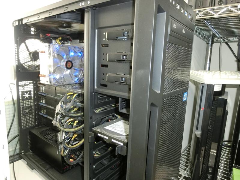 マルチGPU(GTX580)コンピュータ